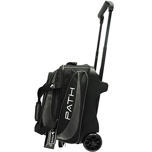 Pyramid Path Premium Deluxe Double Roller Bowling Bag (Black/Silver)