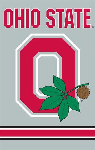 """Ohio State Buckeyes Block """"O"""" Banner (44 in. x 28 in.)"""