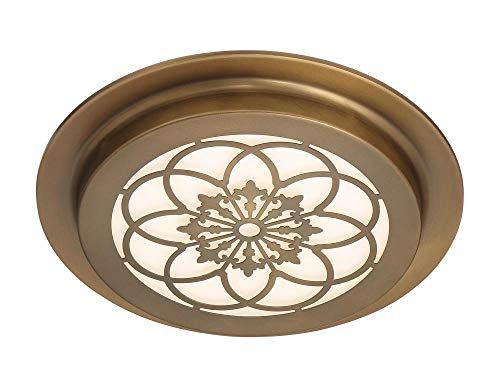Brass Satin Fountain - Designers Fountain LED1291-OSB Edge Lit Flushmount Old Satin Brass
