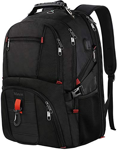 Large Laptop Backpack, TSA Friendly Durable Computer Backpack with USB Port for Men and Women, Extra Big Fashion College School Bookbag Water Resistant Unisex Business Travel Bag Fits 17 Inch Laptop