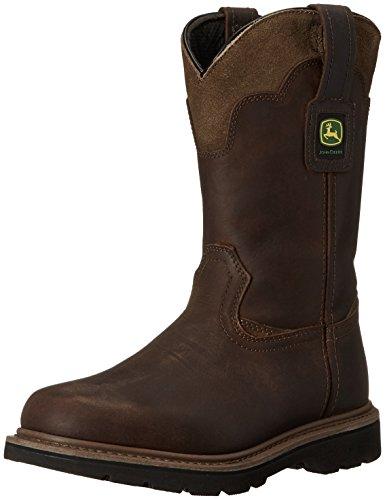 "John Deere Men's JD4148 11"" Pull On Boot, Brown, 10 M US"