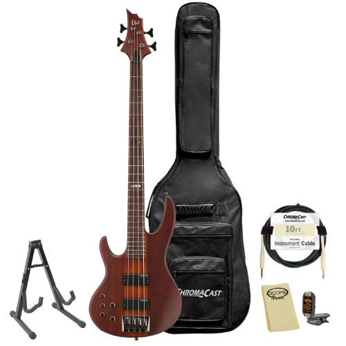 ESP LTD D-4-L/H-NS Natural Satin Left-Handed 4-String Electric Bass w/ Accessories & Gig Bag by GoDpsMusic