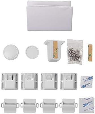 10 cerraduras + 2 llaves Linkax Bloqueo de Seguridad para Beb/és Cierres de seguridad Para Ni/ños Cerraduras Magn/éticos de Seguridad para armarios Cajones y Puertas