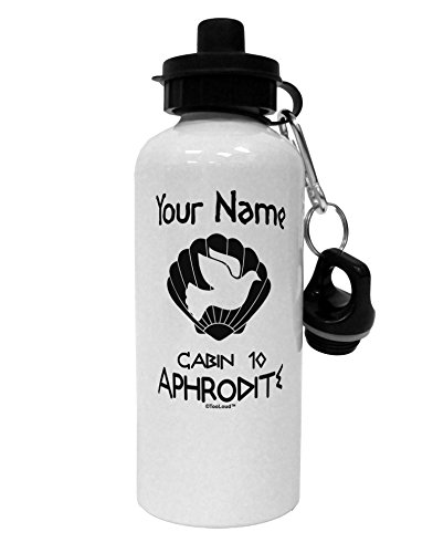 TooLoud Personalized Cabin 10 Aphrodite Aluminum 600ml Water Bottle - White