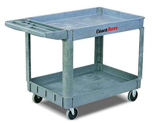 Giant Move AK-H252A Plastic Utility Cart, 500 lbs Capacity, 37
