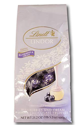 Lindt Lindor Blueberries & Cream White Chocolate Truffles (Limited Edition, 600g)