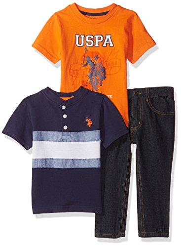 U.S. Polo Assn. Boys' T-Shirt and Pant 3 Piece Set