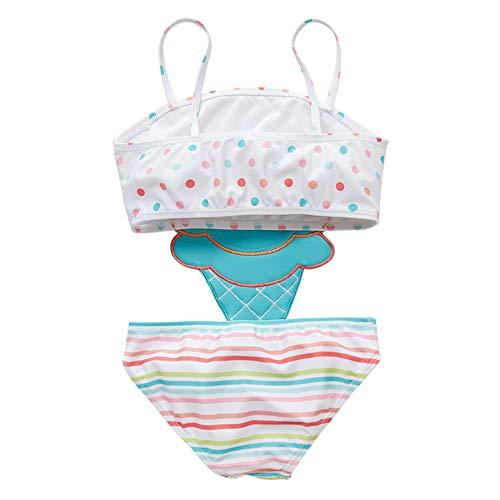 Digirlsor Kids Boys Two Piece Rash Guard Swimsuit Bathing Suit Long Sleeve Sunsuit Swimwear Set with Cap,2-10 Years