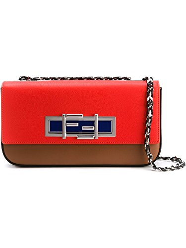 Red Bag Fendi (Fendi Women's 8Br7635r1f0x98-Mcf Red Leather Shoulder Bag)