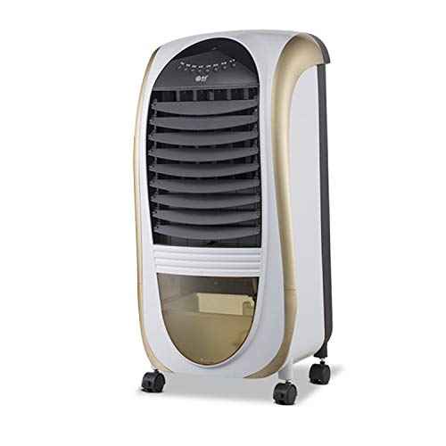 Z&S Summer Single Cold Air Conditioning Fan Household Air Cooler, Office Water Injection Air Conditioner Remote Control Air Conditioning Fan,Metallic (A To Z Air Conditioning And Heating)