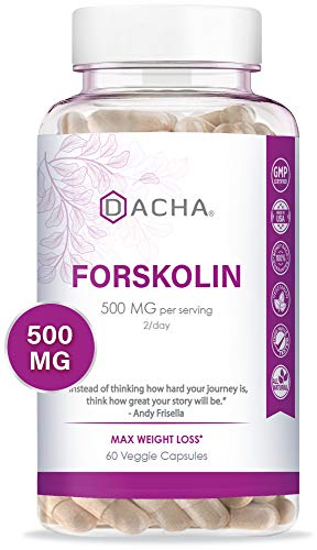 DACHA Forskolin for Weight Loss Max Strength - Pure Belly Fat Burner for Men, Keto Diet Pills That Work Fast for Women, Slim Look, Appetite Suppressant, Lose Weight Fast for Women Rapid Tone Luna Trim (Weight Loss Supplements That Work Dr Oz)