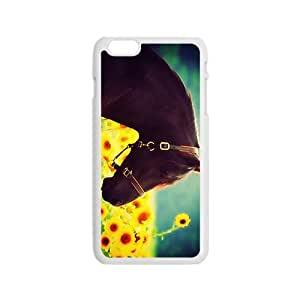 Horse And Sunflowers Hight Quality Plastic Case for Iphone 6 by lolosakes