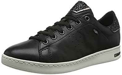 GEOX D Jaysen A Womens Nappa Leather Trainers/Shoes - Black-10