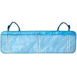 Blue Travel Interior Bag Hanger Multifunction Back Seat Folding Storage Seat Portable