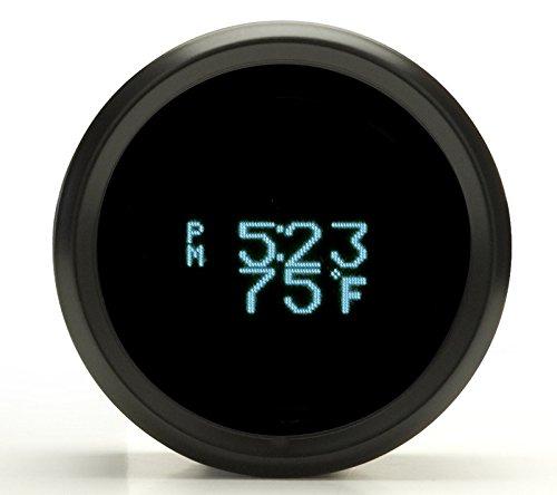 Dakota Digital Odyssey Series II Round Clock Date Temperature Gauge Teal Display Black Bezel ODYR-16-1-K by Dakota Digital