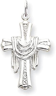 .925 Sterling Silver Latin Cross Charm Pendant