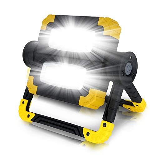 WOERD Tragbare LED Arbeitsstrahler, Wiederaufladbare Baustrahler Dimmbar, Arbeitsleuchte COB Flutlicht Baustrahler, 20W…