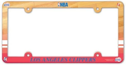 NBA Los Angeles Clippers Full Color License Plate Frame Team Color One Size