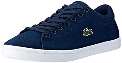 Lacoste Straightset BL 2 Women's Fashion Shoes, Navy, 5 US