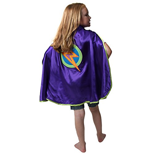 Making Believe Purple Lightning Bolt Cape