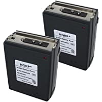 HQRP 2-pack 1600mAh Battery for Icom IC-A2, IC-A20, IC-A21, IC-M2, IC-M5, IC-M11, IC-M12 + HQRP Coaster