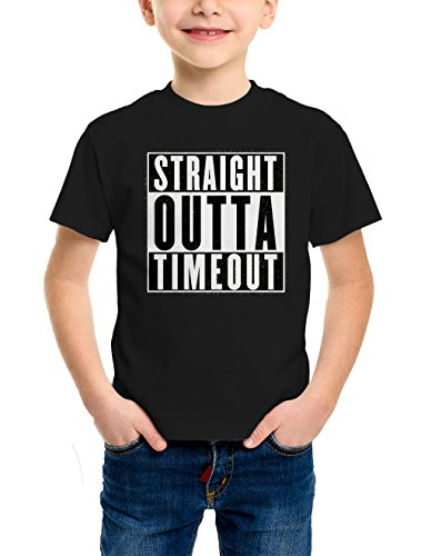 HAASE UNLIMITED Straight Outta Timeout Youth T-Shirt (Black, X-Small) (Big T-shirt Youth Time)