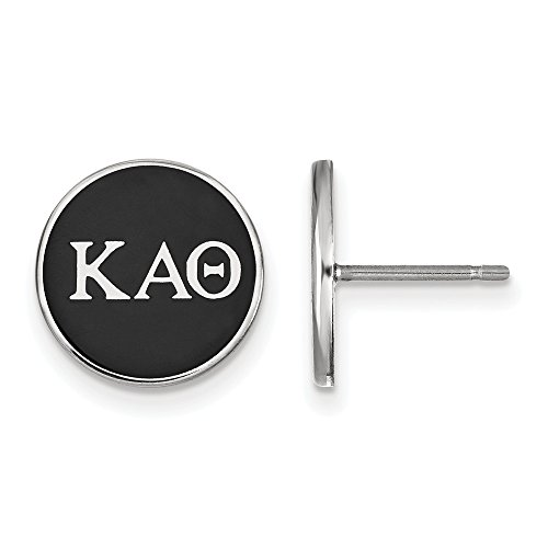 Roy Rose Jewelry Sterling Silver Kappa Alpha Theta Enameled Post Earrings