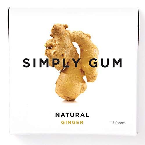 Simply Gum | Chicle de Jengibre | Natural, Vegetariano, y no GMO | Paquete de 6, 90 Piezas Totales: Amazon.es: Alimentación y bebidas