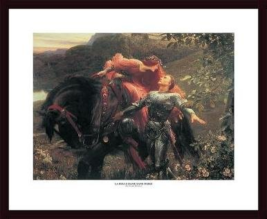 La Belle Dame sans Merci, framed black wood, white - Sans Belle Merci Dame Framed