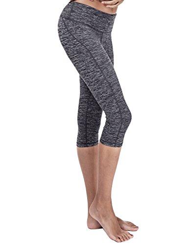 Yoga Reflex - Yoga Capris Pants - Running Capri Pants With Hidden Pocket (XS-2XL) , Navy, XX-Large