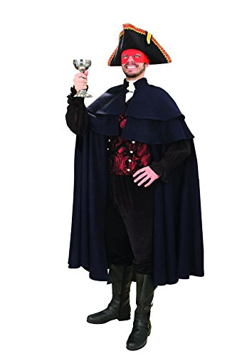 [Men's Capatino Navy Wool Double Mantle Cloak - Halloween Colonial Cape] (Colonial Sailor Costumes)