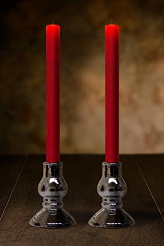 Veraflame 10 inch LED Push Wick Window Taper Candle - Set of 2 - Realistic and Bright Flickering Bulb Battery Operated Flameless LED Candles - Great For Decorating, Safe For Kids, Senior And (Natural Reed Finish Bases)