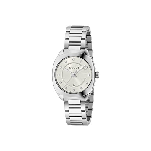 Gucci Women's Swiss Quartz Stainless Steel Dress Watch, Color:Silver-Toned (Model: YA142504)