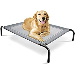 """Paws & Pals """"Travel Gear Approved"""" Steel-Framed Portable Elevated Pet Bed Cat/Dog, 43.5"""" by 29.5"""", Black"""