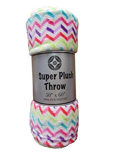Cozy Fleece Plush Blanket Chevron