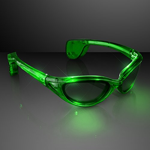 Jade Green Light Up Flashing LED - Sunglasses Blinking