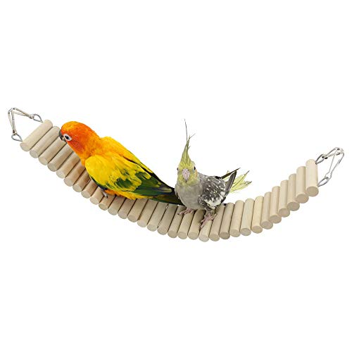 YINGGE Bird Pet Ladders, Parrot Climbing Ladder Bridge Wood Chewing Hanging Standing Swings Toys for Small Medium…