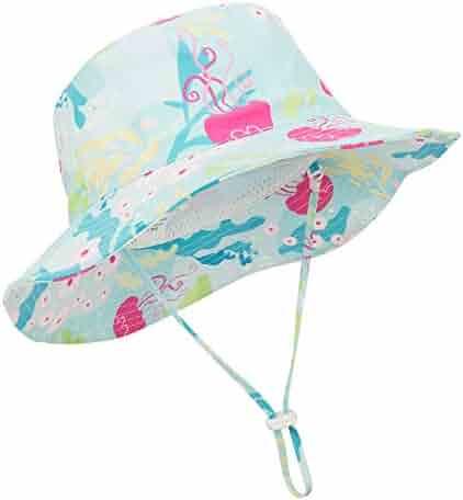 Durio Baby Sun Hat Summer Beach UPF 50+ Sun Protection Baby Boy Hats Toddler Sun Hats Cap for Baby Girl Kid Bucket Hat