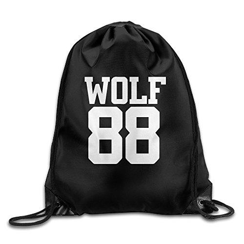 BYDHX WOLF 88 Logo Drawstring Backpack Bag