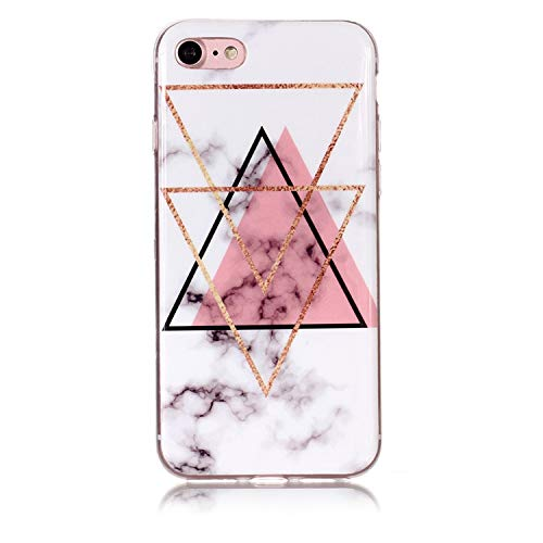 arble Soft TPU Silicone Cover Case for iPhone Xs Max XR X 4 4S 5 5C 5S SE 6 6S 7 8 Plus Fundas Coque B02,Triangle Pink,for iPhone 5C ()