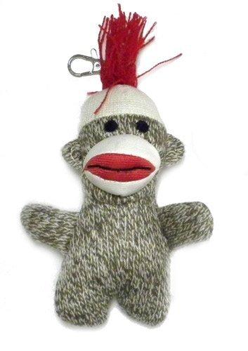 Pocket Sock Monkey Keychain Classic Brown by MAS