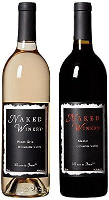 """Oregon & Washington Wine, """"Naked Couple"""" Bundle Mixed Pack 2 x 750 mL, by Naked Winery from Naked Winery"""