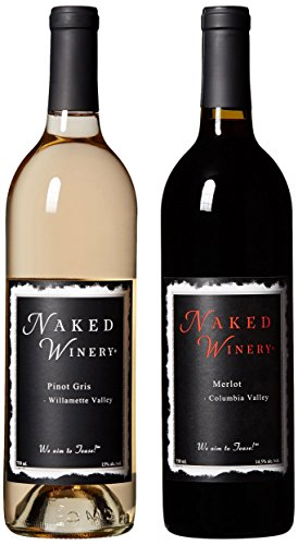 Oregon & Washington Wine, Naked Couple Bundle Mixed Pack 2 x 750 mL, by Naked Winery