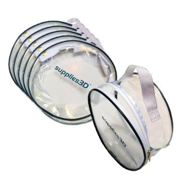 Clear zippered carry-storage bag for spool of 3d filament. You get 6 bags