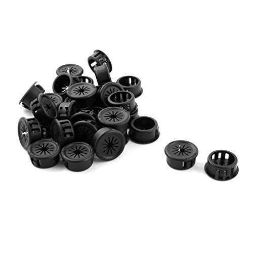 (Uxcell a14073100ux0314 30Pcs 19mm Black Plastic Cable Snap in Lock Bushing Protective Grommet (Pack of 30))