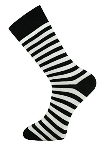 Mysocks Unisex Ankle Socks Stripe White and -