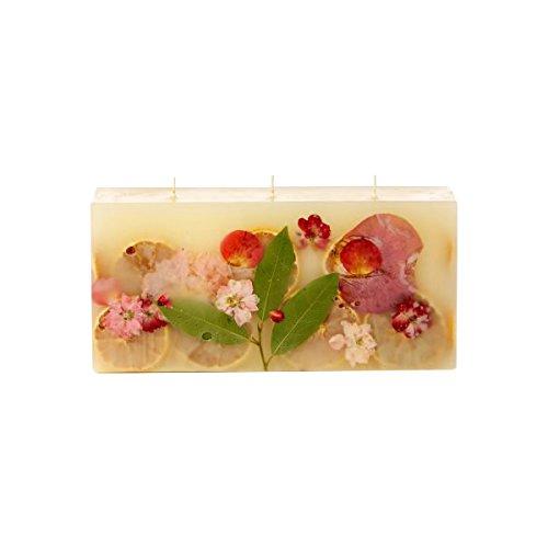 Rosy Rings Brick Botanical Candle - Peony & Pomelo