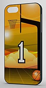 Basketball Sports Fan Player Number 1 Black Rubber Decorative iPhone 5/5s Case