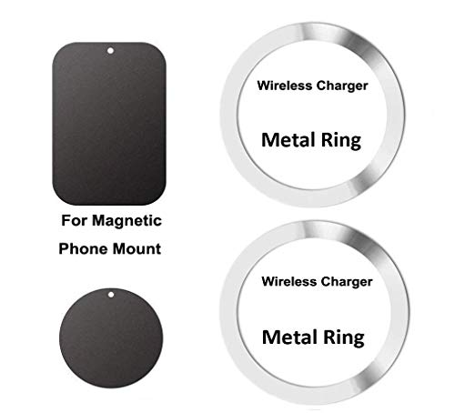 Wireless Charger Magnet Attracting Ring & Magnetic Phone Mount Holder Attracting Adhesive Metal ()