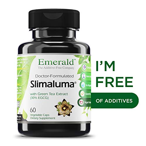 Slimaluma - Caralluma Fimbriata + Green Tea Weight Loss Support, Helps Suppress Appetite, Improves Fat-Oxidation - Emerald Laboratories (Fruitrients) - 60 Vegetable - Egcg Capsules 60